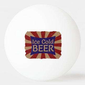 Bola de ping-pong helada de la cerveza pelota de tenis de mesa