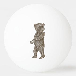 Bola de ping-pong linda del oso de peluche del pelota de tenis de mesa