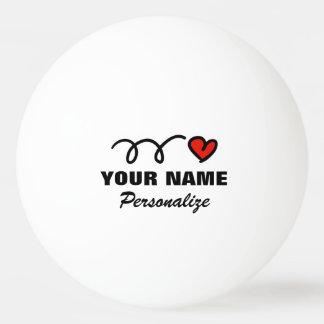 Bola de ping-pong personalizada del corazón para pelota de ping pong