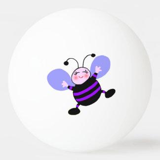 Bola de ping-pong púrpura feliz de la abeja pelota de ping pong