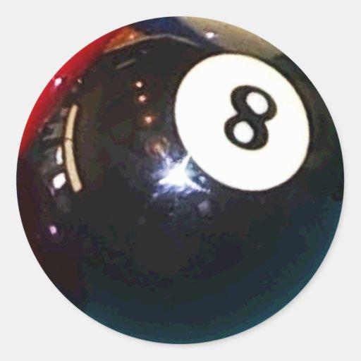 bola de piscina 8-Ball Pegatina Redonda