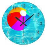 Bola de playa de la piscina reloj redondo grande
