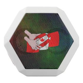 Bola de rugbi canadiense de la hoja de arce de la altavoces bluetooth blancos boombot REX