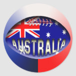 Bola de rugbi de Australia Etiquetas Redondas