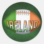 Bola de rugbi de Irlanda Pegatinas Redondas