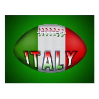 Bola de rugbi de Italia Tarjeta Postal