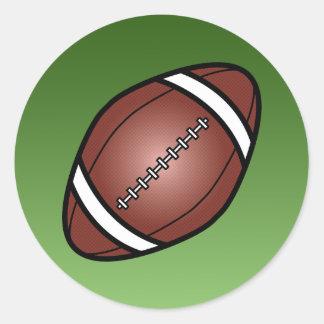 Bola de rugbi del fútbol etiqueta redonda