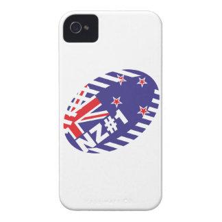 Bola de rugbi NZ#1 iPhone 4 Case-Mate Fundas