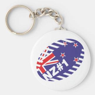 Bola de rugbi NZ#1 Llavero Redondo Tipo Pin