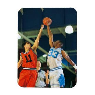 Bola de salto en juego de baloncesto imanes