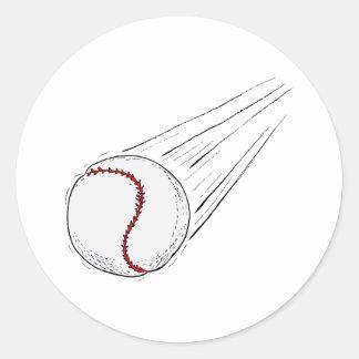 bola de vuelo pegatina redonda