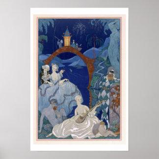 Bola debajo de la luna azul, ejemplo para los 'Fet Poster