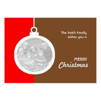 Bola decorativa del navidad tarjetas de visita