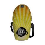 Bola del amarillo 8 bolsa messenger