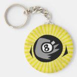 Bola del amarillo 8 llavero personalizado