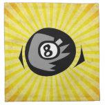 Bola del amarillo 8 servilleta de papel