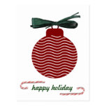 bola del árbol de Navidad Postal
