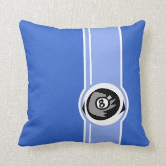 Bola del azul 8 cojín decorativo