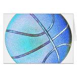 Bola del azul de cielo tarjeta de felicitación