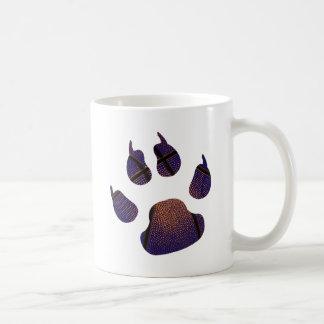 Bola del azul real del chapoteo taza de café