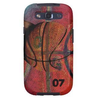 bola del baloncesto - caja urbana del teléfono del samsung galaxy s3 protectores