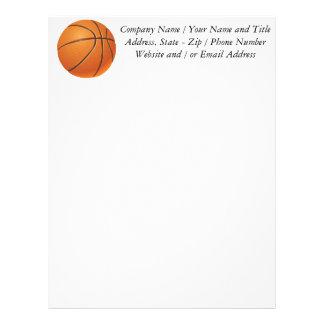 Bola del baloncesto, deporte de equipo plantilla de membrete