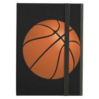 Bola del baloncesto en fondo negro