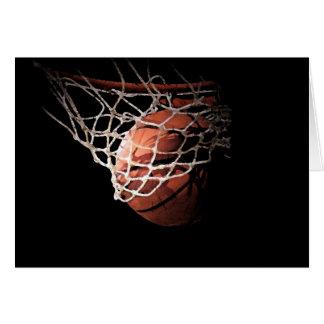 Bola del baloncesto en la acción tarjetas
