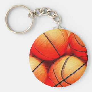Bola del baloncesto llavero redondo tipo pin
