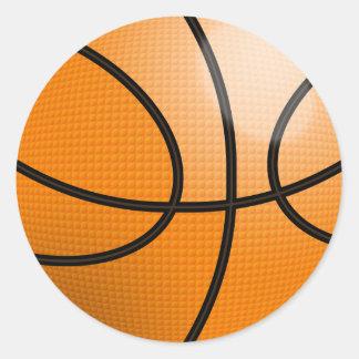 Bola del baloncesto pegatina redonda