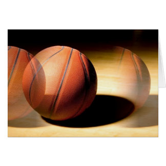 Bola del baloncesto tarjeta