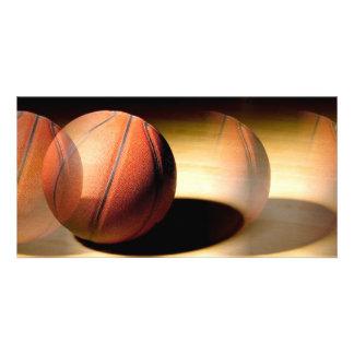 Bola del baloncesto tarjeta personal con foto