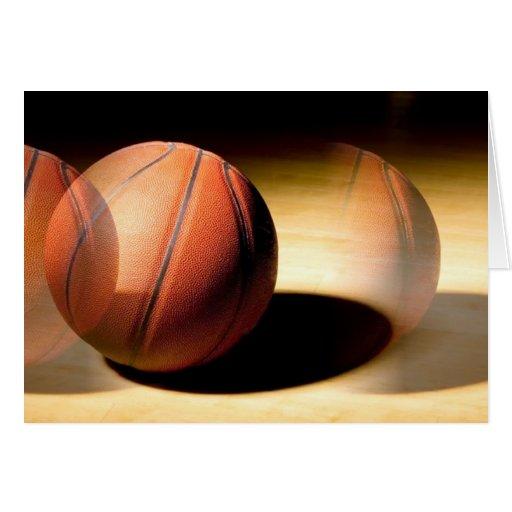 Bola del baloncesto tarjeta de felicitación