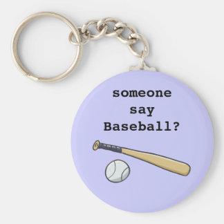 Bola del bate de béisbol n llavero redondo tipo pin