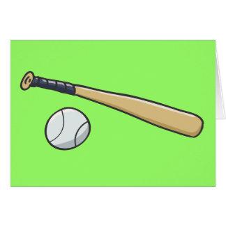 Bola del bate de béisbol n tarjeta de felicitación