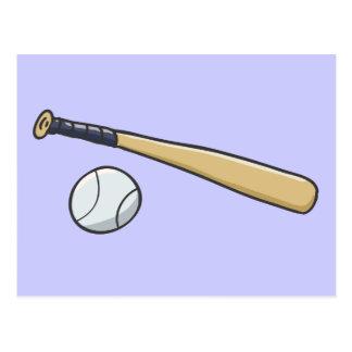 Bola del bate de béisbol n tarjeta postal