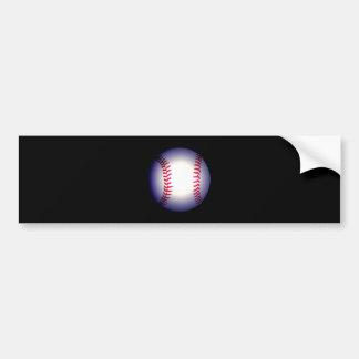 Bola del béisbol pegatina de parachoque