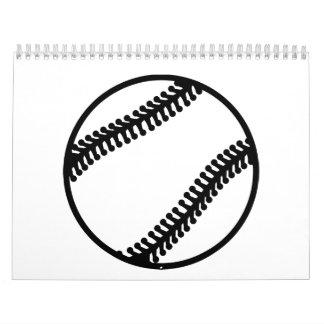 Bola del béisbol calendarios