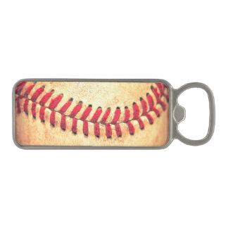 Bola del béisbol del vintage abrebotellas magnético