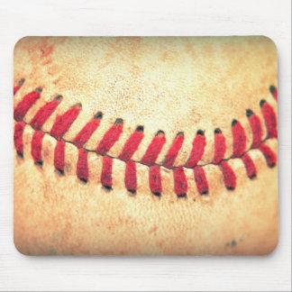 Bola del béisbol del vintage alfombrilla de ratones