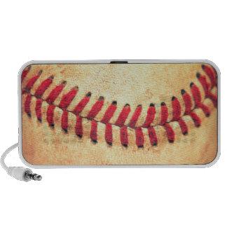 Bola del béisbol del vintage portátil altavoz