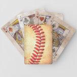 Bola del béisbol del vintage barajas de cartas