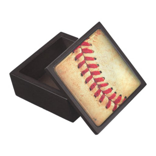 Bola del béisbol del vintage caja de recuerdo de calidad