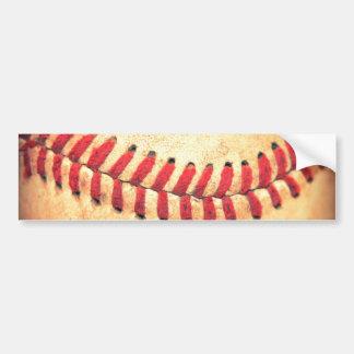 Bola del béisbol del vintage pegatina de parachoque