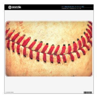 Bola del béisbol del vintage calcomanías para MacBook air