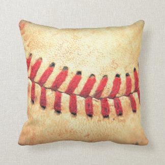 Bola del béisbol del vintage cojín