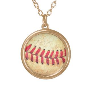 Bola del béisbol del vintage colgante redondo