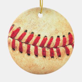 Bola del béisbol del vintage ornamentos de reyes