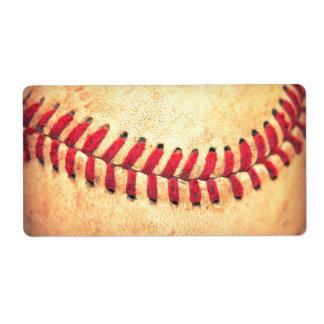 Bola del béisbol del vintage etiqueta de envío