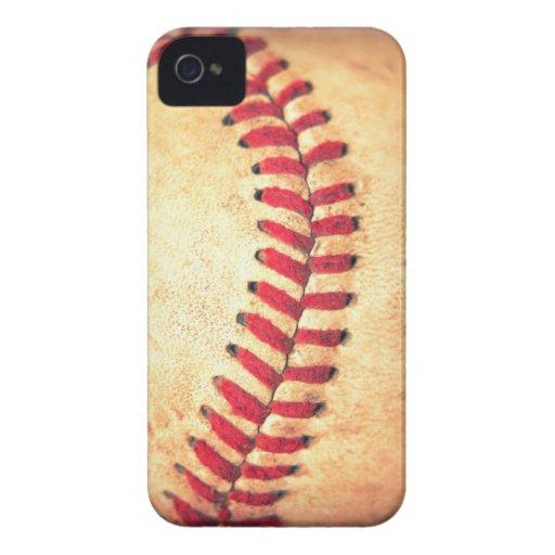 Bola del béisbol del vintage Case-Mate iPhone 4 carcasas